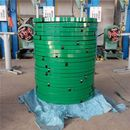 STEEL STRAPPING BAND GREEN PAINTED