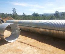 Corrugated Steel Pipe/Pipa Baja Bergelombang type Nestable Flange E-100