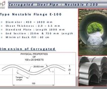 Type Nestable Flange E-100 ( Corrugated Steel Pipe)