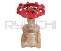 Gate Valve Brass BSPT Threaded #200 Lbs RYUICHI / Stop Kran Kuningan Drat Ulir Open Close Buka Tutup Air Water (PT. Kalimas Sarana Suplindo)