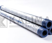 Pipe Black / Hot Deep Galvanized ERW Medium BS1387 / SNI 0039 OR Pipa Besi Baja Hitam / Galvanis Welded Las Air Water Plumbing Spindo