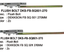 Flush Bolt Dekkson SQ501-270+370 ZC - Aksesoris pintu yang cocok untuk aplikasi Pintu Double Darurat, Besi, dan kayu.