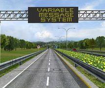 GANTRY VMS (VARIABLE MESSAGE SYSTEM):