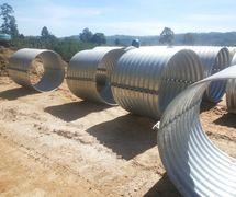 Corrugated Steel Pipe/Gorong Gorong Baja Nestable Flange E-100