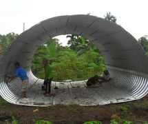 Corrugated Steel Pipe Armco Type Multi Plate Pipe Arches (PT.Chasana global mandiri )