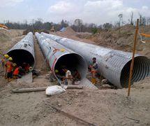 Corrugated Steel Pipe/Culvert/Gorong-Gorong Baja Armco/Multi Plate Pipe (PT.Chasana global mandiri )